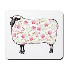 Floral Sheep Mousepad