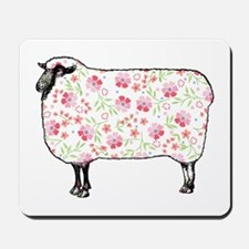 Floral Sheep Mousepad