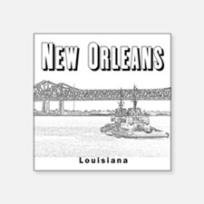 "New Orleans Square Sticker 3"" x 3"""