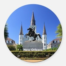 New Orleans Round Car Magnet