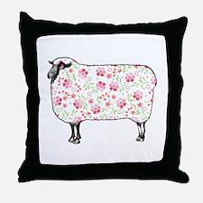 Floral Sheep Throw Pillow