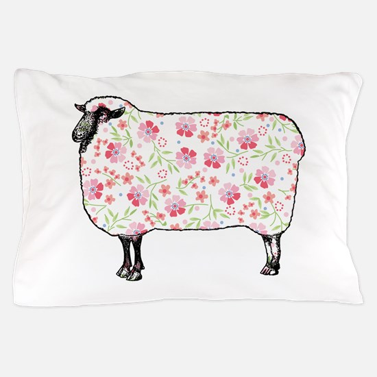 Floral Sheep Pillow Case