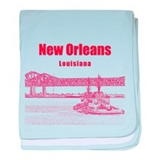 New Orleans baby blanket