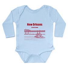 New Orleans Long Sleeve Infant Bodysuit