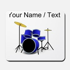 Custom Blue Drums Mousepad