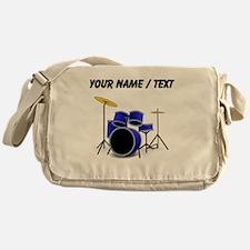Custom Blue Drums Messenger Bag