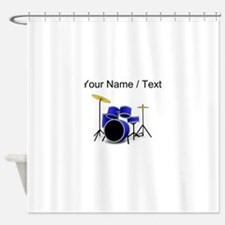 Custom Blue Drums Shower Curtain