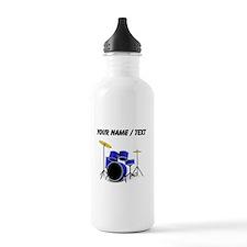 Custom Blue Drums Water Bottle