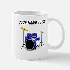 Custom Blue Drums Mugs