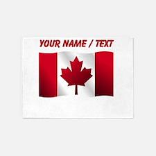 Custom Canadian Flag 5'x7'Area Rug