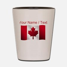 Custom Canadian Flag Shot Glass