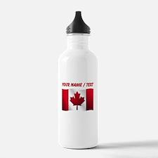 Custom Canadian Flag Water Bottle