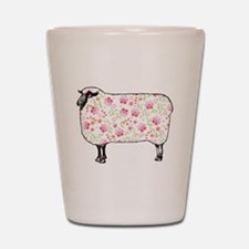 Floral Sheep Shot Glass