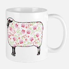 Floral Sheep Mugs