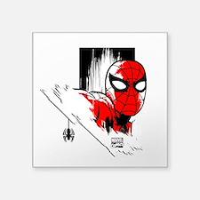 "Spider-Man Face Square Sticker 3"" x 3"""