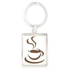 coffee break Portrait Keychain