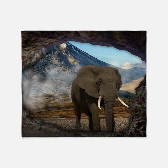 Cute Elephant photo Throw Blanket