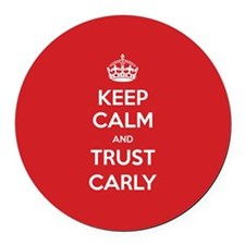 Trust Carly Round Car Magnet