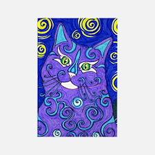 Van Goghs Cat Rectangle Magnet