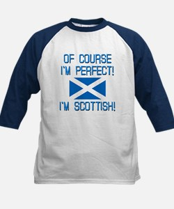 I'M PERFECT I'M SCOTTISH Kids Baseball Jersey