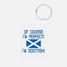 I'm Perfect I'm Scottish Aluminum Photo Keychain
