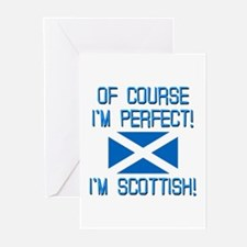 I'm Perfect I'm Scottish Greeting Cards (Pk of 10)
