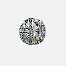 Mexican Tile Design Mini Button