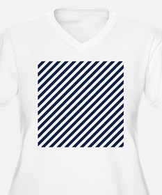 Navy Blue and Whi T-Shirt