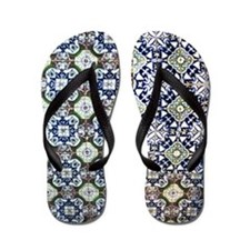 Mexican Tile Design Flip Flops