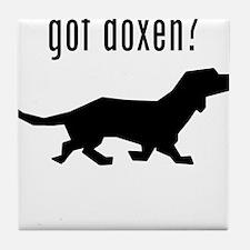 got doxen? Tile Coaster
