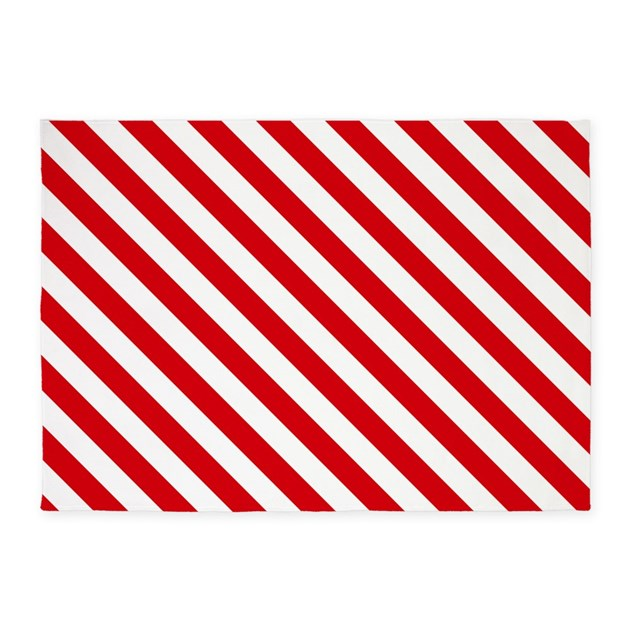 red and white striped 5 39 x7 39 area rug by thetestshop