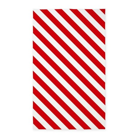 Red and white striped 3 39 x5 39 area rug by thetestshop for Red and white striped area rug