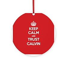 Trust Calvin Ornament (Round)