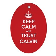 Trust Calvin Ornament (Oval)