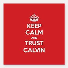 """Trust Calvin Square Car Magnet 3"""" x 3"""""""