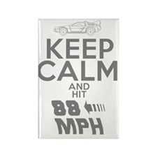 Keep Calm and Hit 88MPH Rectangle Magnet