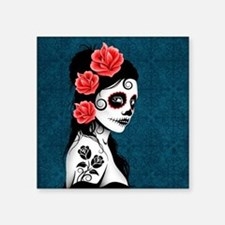 Day of the Dead Girl Blue Sticker