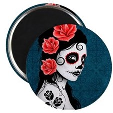 Day of the Dead Girl Blue Magnets