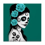 Day of the dead Tile Coasters