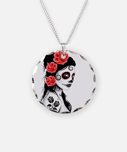 Day of the Dead Girl White Necklace