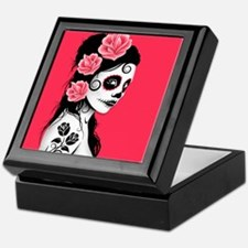 Day of the Dead Girl Pink Keepsake Box