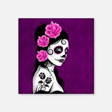 Day of the Dead Girl Purple Sticker