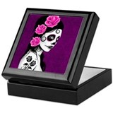 Sugar skull Square Keepsake Boxes
