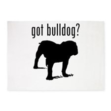 got bulldog? 5'x7'Area Rug