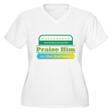 Praise Him in the Hallway Plus Size T-Shirt