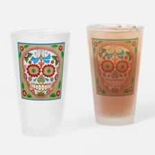 """Eden Folwell """"Amor"""" Day of the Dead Drinking Glass"""