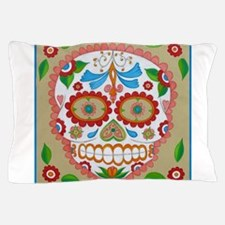 """Eden Folwell """"Amor"""" Day of the Dead Pillow Case"""