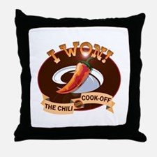 First Place Chili Throw Pillow