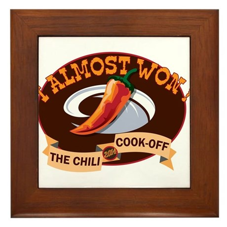 Second Place Chili Framed Tile