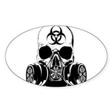 Biohazard Zombie Skull Decal